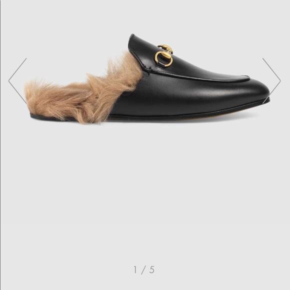 Gucci Shoes - Gucci fur slides